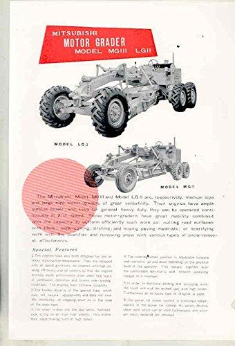 1953 Mitsubishi Fuso LG II LG III Motor Grader Construction Brochure