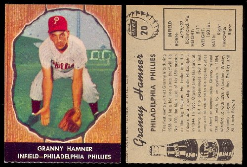 1958 Hires Root Beer Regular (Baseball) Card# 20 Granny Hammer of the Philadelphia Phillies NrMt Condition at Amazon.com