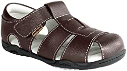 pediped Flex Sydney Sandal (Toddler/Little Kid),Chocolate Brown,20 EU (5 M US Toddler)