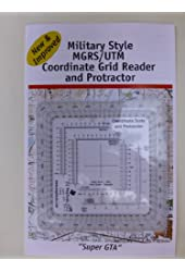 Improved Military Style MGRS/UTM Coordinate Grid Reder, and Protractor
