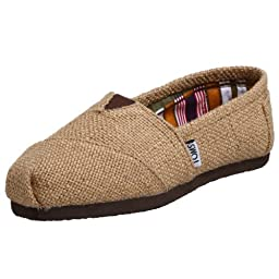 TOMS Women\'s Classic Woven Slip-on,Burlap,7.5 M