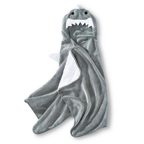 Soft Plush Hooded Towel by Circo (24x52) Machine Washable. (Shark) (Hooded Towel Adult compare prices)