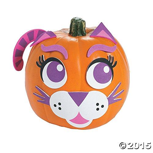 Purple Cat Pumpkin Decorating Craft Kit