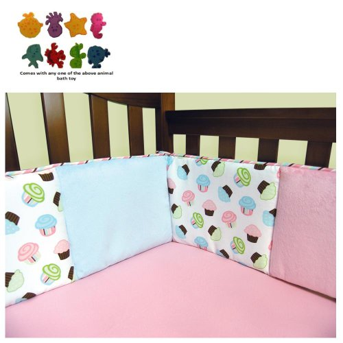 Pink And Teal Baby Bedding 623 front