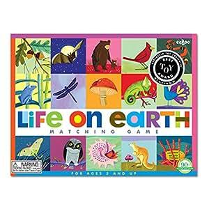 eeBoo Life On Earth Memory Game