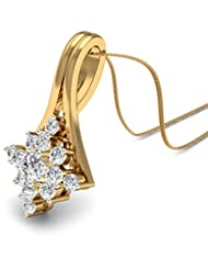 WearYourShine By PC Jeweller The Orianthi 18 K Gold And Diamond Pendant