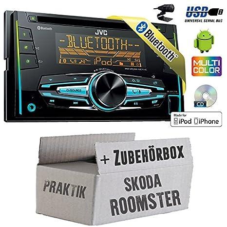 Skoda Roomster & pratique-JVC KW r920bt-2DIN USB Bluetooth Kit de montage autoradio -
