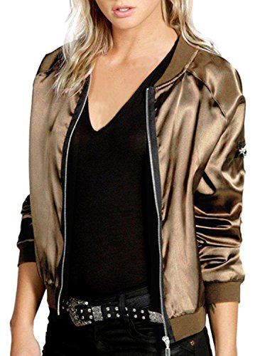 if-feel-women-classic-quilted-jacket-short-bomber-jacket-coat-us-14-16xl-gold