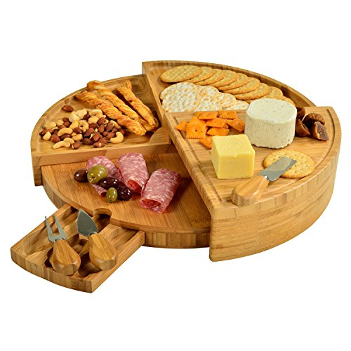 Picnic at Ascot Vienna Transforming Bamboo Cheese Board Set (Cheese Board compare prices)