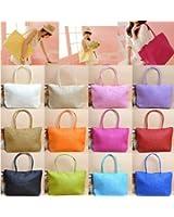 Large Beach Tote Bag Straw Handbag Hand Bags - Various Colours