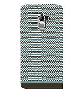 PrintDhaba Zig Zag Pattern D-1691 Back Case Cover for LENOVO K4 NOTE A7010 (Multi-Coloured)