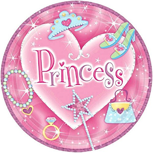 Princess Prismatic Dessert Plates 8ct - 1