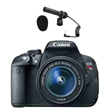 Canon EOS Rebel T5i w/EF-S 18-55MM IS II Lens & Audio-Technica Pro-24CM Condenser Microphone Kit
