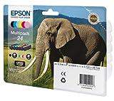 EPSON C13T24284010 - Multipack 6-colours 24 Elephant series(Printer cartridge)