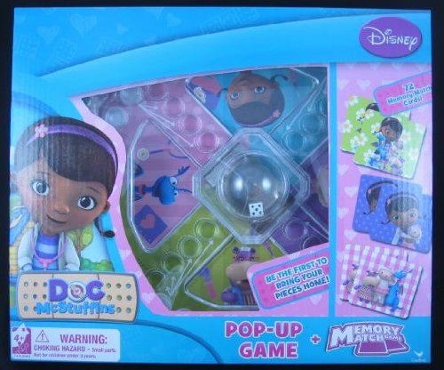 Disney Doc McStuffins Pop-up Game and Memory Match Game
