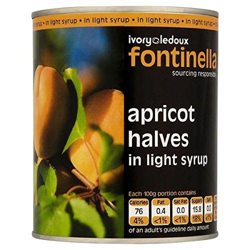 Fontinella abricot moitiés en sirop léger 820g APR1K6G