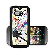 buy Liili Premium Htc One M8 Aluminum Case Abstract Background With Guitar And Notes Image Id 23151860