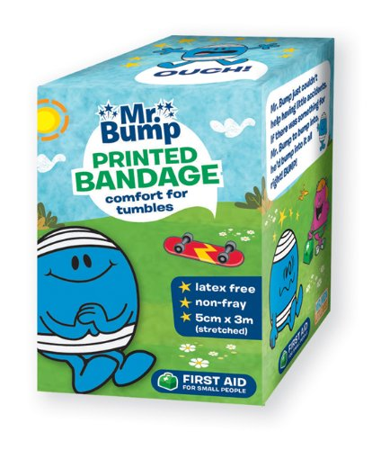 Mr Bump printed crepe bandage - multi pack of 5
