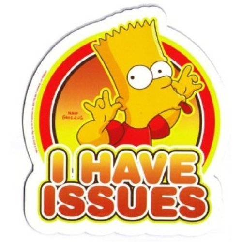 The Simpsons Bart - I Have Issues Car Magnet - 1