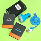 5 Accessory 2x 2080mAh Battery Travel Wall Charger Mini Car Charger Micro USB Data Sync Cable for Samsung Galaxy S II SGH-S959G CellPhone (ONLY FOR SGH-S959G)