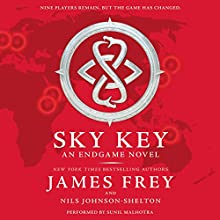 Endgame: Sky Key (       UNABRIDGED) by James Frey, Nils Johnson-Shelton Narrated by Sunil Malhotra