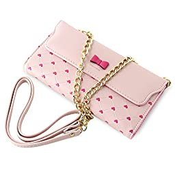 BELK Cute style Woman grils Handbag Purse Shoulder Tote Chain Cross Bag -pink
