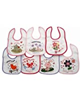 Newborn Baby Girl Bibs, Animals 7 Days Of The Week Baby Bibs (Pack Of 7)