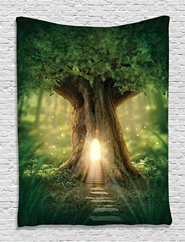 mystic-fairy-tree-of-life-enchanted-forest-mystical-lights-digital-printed-tapestry-wall-hanging-wal