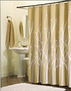 Amazon 100 Percent Cotton Shower Curtain Branches