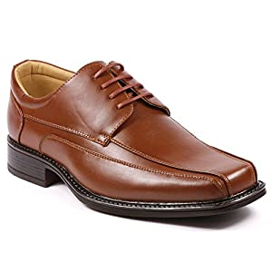UV Signature F51051-3 Men's Rust Brown Lace Up Dress Classic Oxford Shoes