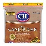 C&H, Cane Sugar, Golden Brown, 2lb Bag (Pack of 2)