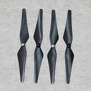 PIXNOR 4 paar 9443 selbst anziehen Kohlefaser Propeller Props Rechts-Links-Lauf für DJI Phantom 2 /Phantom 2 Vision (silber + schwarz)