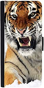 Snoogg Tiger Hungerdesigner Protective Flip Case Cover For Sony Xperia Z5