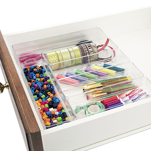 Break-Resistant Plastic Drawer Organizers | 6 Piece Set (Drawer Organizer Clear compare prices)