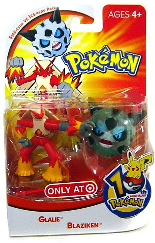 Picture of Hasbro Pokemon Mini Action Figure Set Fire Type vs. Ice Type Pack with Glalie & Blaziken (B000NK78VG) (Pokemon Action Figures)