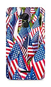 Amez designer printed 3d premium high quality back case cover for Coolpad Note 3 (American flags)
