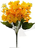 Fourwalls Artificial Butterfly Orchid Flower Bouquet (45 cm, Yellow, 7 Branches)