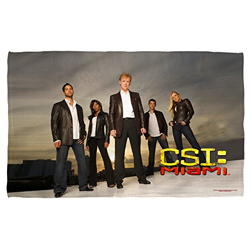 CSI:Miami TV Series Investigators & Caine/Duquesne Poster Beach Towel