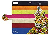 NiJiSuKe×collaborn iPhone 6s / 6 (4.7インチ)専用 デザイナーコラボ手帳型ケース チーター NJ-BKI6-022