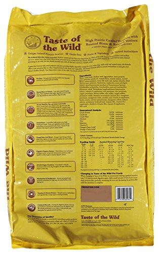 Taste of the Wild Dry Dog Food, Hi Prairie Canine Formula with Roasted Bison & Venison, 30-Pound Bag_Image1