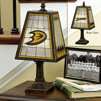 Buy Anaheim Mighty Ducks Memory Company Art Glass Table Lamp NHL Hockey Fan Shop Sports Team... by Memory Company