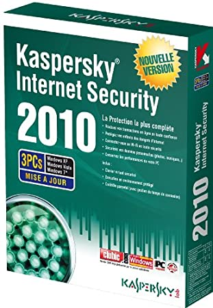 Kaspersky internet security 2010 - mise à jour (3 postes, 1 an)