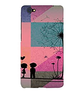 PrintVisa Romantic Love Couple 3D Hard Polycarbonate Designer Back Case Cover for Vivo X5 Pro