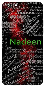 Nadeen (Ocean) Name & Sign Printed All over customize & Personalized!! Protective back cover for your Smart Phone : Apple iPhone 4/4S