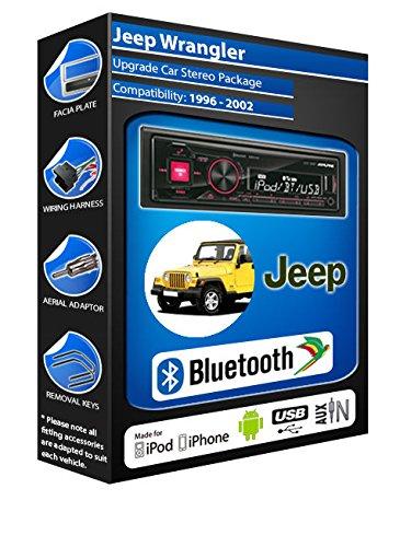 Jeep Wrangler autoradio Alpine UTE 72BT mains-libres Bluetooth pour autoradio stéréo
