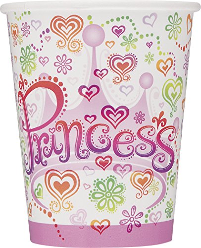 Set of 8 Princess Diva 9 Oz Cups