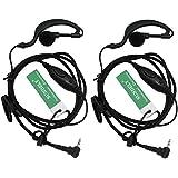 2 X SUNDELY® G Shape Clip-Ear Headset/Earpiece Mic for Motorola Talkabout 2 Two Way Radio Walkie Talkie 1-pin