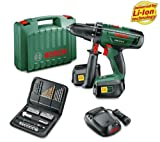 BOSCH PSB 18 LI-2 Power4All Cordless Hammer Drill with two batteries, charger and 51 accessories + 3 YEARS WARRANTY