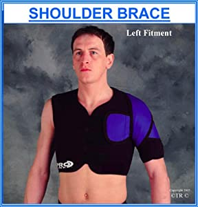 Prolineonline Single Shoulder Brace Support Right Shoulder Compressive Neoprene by Prolineonline