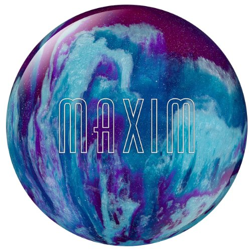 Ebonite Maxim Bowling Ball, Purple/Royal/Silver, 9-Pound